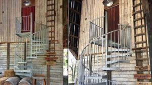 Spiral staircase entrance