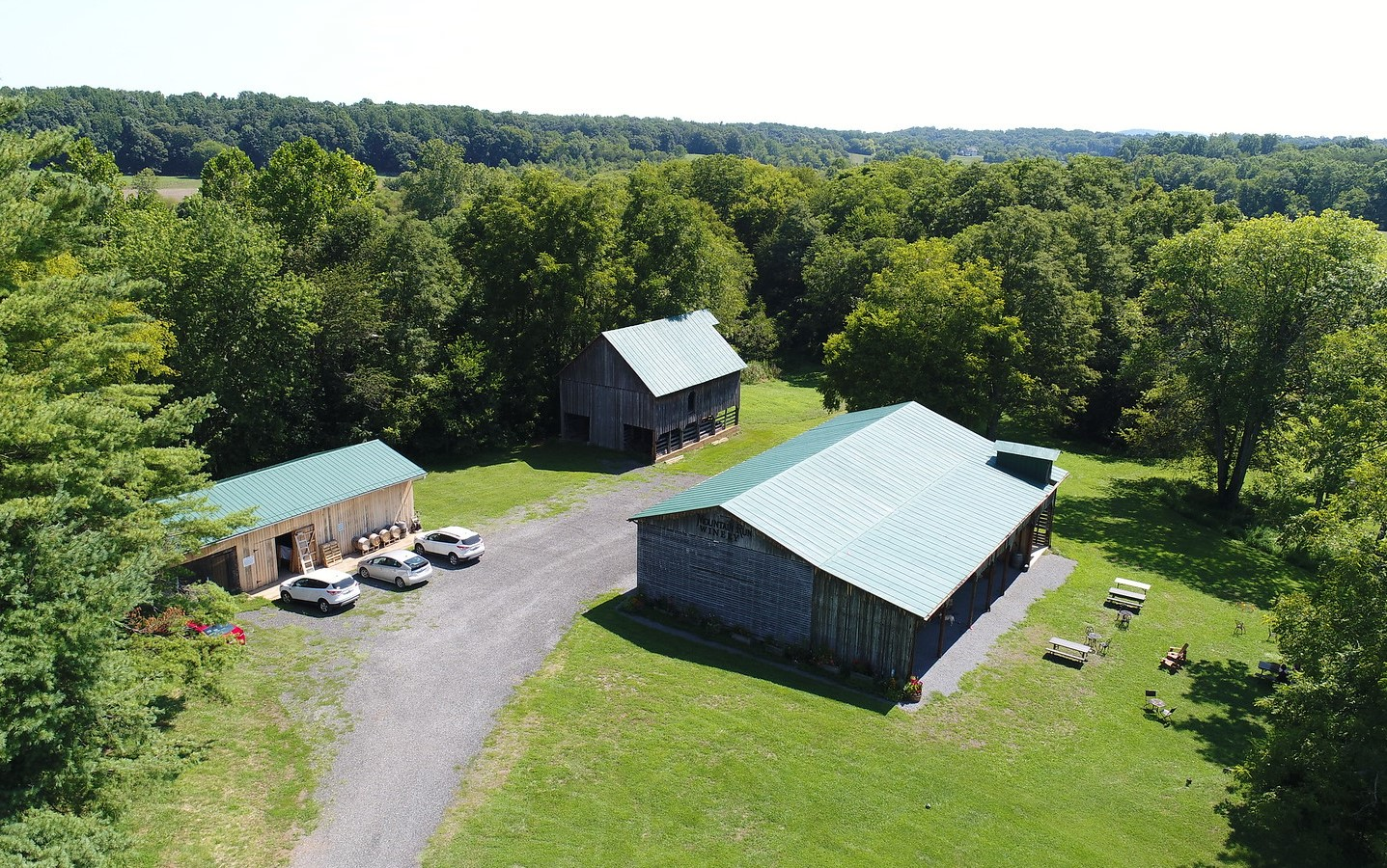 Mountain Run Winery is centered around a trio of old barns on the property