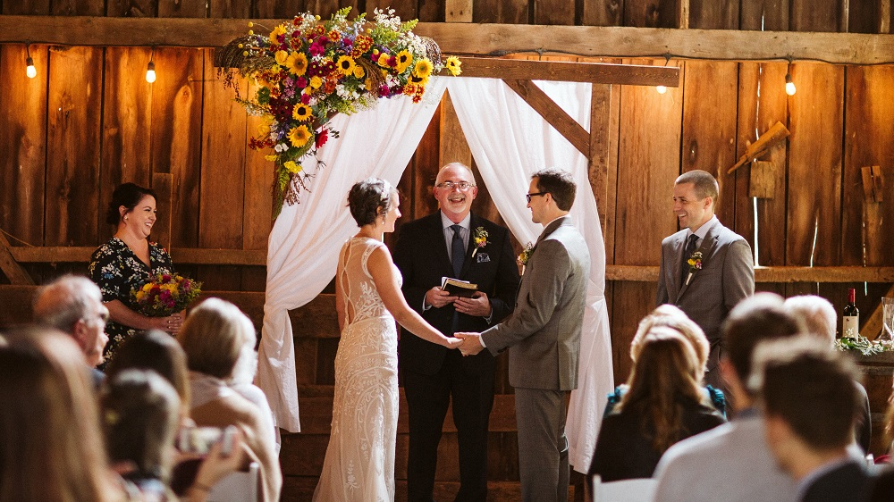 Stable Barn Ceremony at Mountain Run Winery