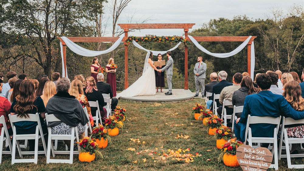 Overlook Ceremony at Mountain Run Winery