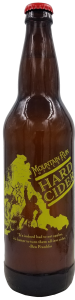 A bottle of hard apple cider at Mountain Run Winery