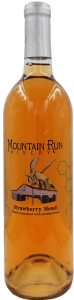 A bottle of strawberry mead from Mountain Run Winery